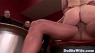 Cuckolding wife assfucking in front of hubby
