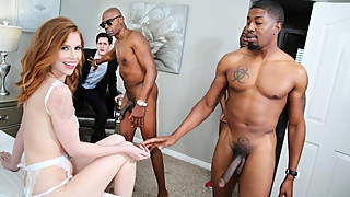 Anal Slut Pepper Hart BBC Gangbanged In Front Of Cuckold