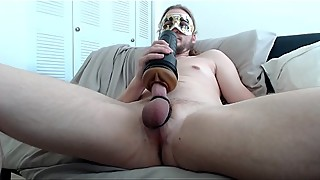 Pleasing my cock with fleshlight