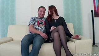 redhead wife fucks stranger for husband