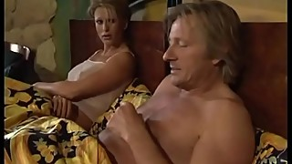 Unfaithful husband fucks a cute whore in front of her wife