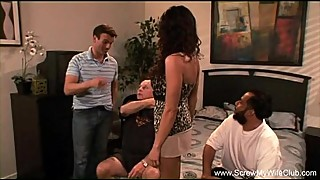 Sleazy Husband Watches His Wife Fuck