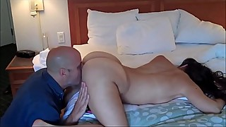 cuckold licks wifes pussy filled with my sperm