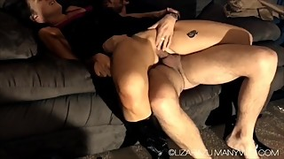 Amateur cuckold creampie cleanup