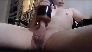 Fucking and cumming with my fleshlight
