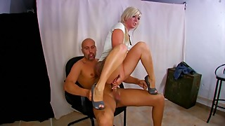 Tiny french blonde gets super rough DP and cum blasted