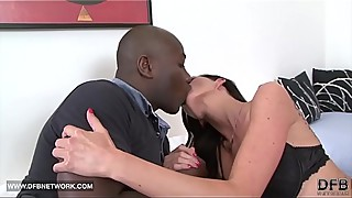 Wife and husband fuck together a black man the milf sucks his big black rod