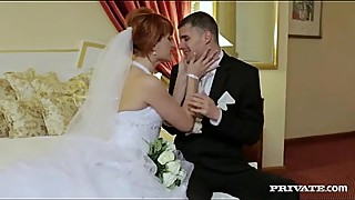 Slutty Bride does Double Anal with groom &amp_ best man