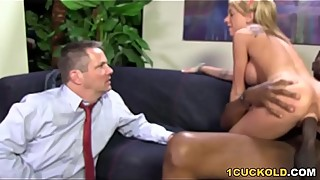 Kaylee Hilton Takes Black Cock In Front Of Cuckold Stepdad
